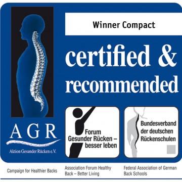 Πιστοποίηση εργονομικής κατασκευής ΑGR για το γραφείο winner compact